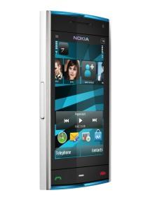 Nokia X6 white blue homescreen
