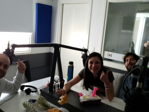 Sebastián Catalano, Yamila Vetti y Facundo Raventos